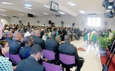 At the funeral service of Bishop Daniel