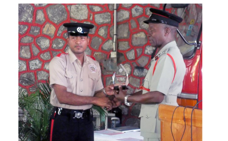 Donaldson Frederick, Fire Officer of 2014 receives award