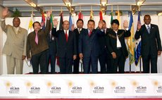 File Photo:CARACAS, Jan. 27, 2008 (Xinhua) -- Leaders attending the sixth summit meeting of the Bolivarian Alternative for the Americas (ALBA) in Caracas, Venezuela, Jan. 26, 2008