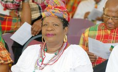 Minister Gloria Shillingford and other ministers at the opening of independence celebrations at Windsor Park on Friday