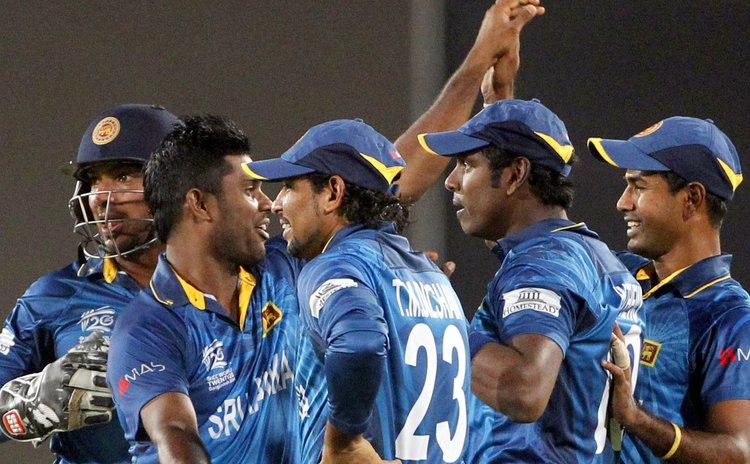 Sri Lanka players celebrate