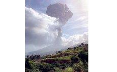 St Vincent's La Soufriere erupts