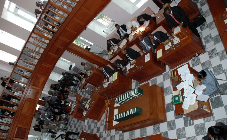 FILE PHOTO: Dominica's parliament in session