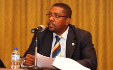 WICB President, Dave Cameron, makes a point during to the media during the Post-Annual General Meeting Media Conference in Trinidad.