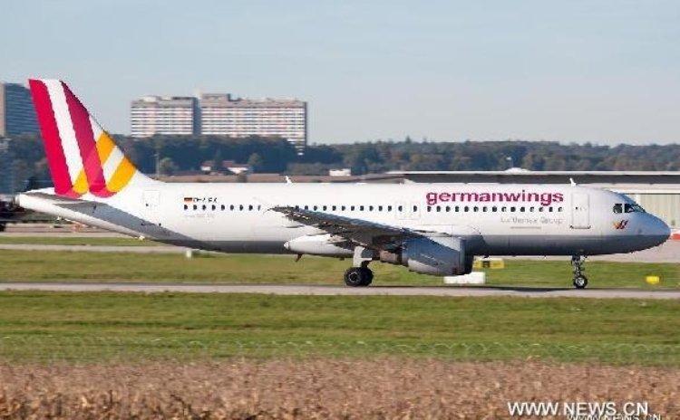Airbus A320 of the German airline Germanwings in the airport of Stuttgart in German