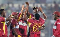 West Indies Cricket Team celebrate