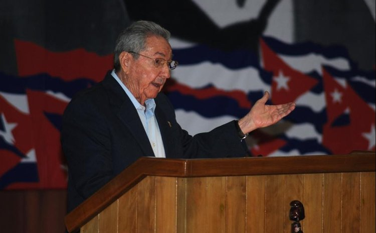 Cuba's President Raul Castro, makes a keynote address at the opening of the Seventh Congress of Cuba's Communist Party (PCC), at the Convention Palace of Havana, capital of Cuba, on April 16, 2016.