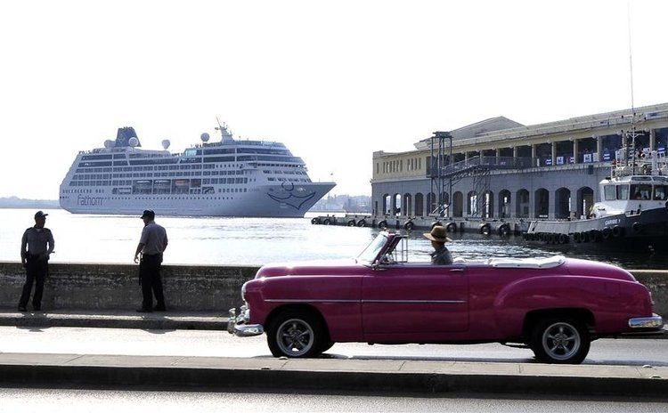 United States cruise ship Adonia arriving in Havana, Cuba, May 2, 2016