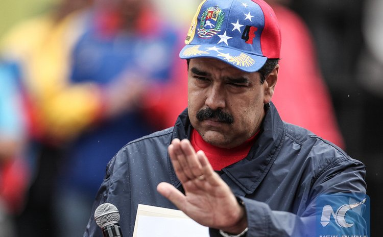 File photo: Venezuela's President Nicolas Maduro takes part in an event to commemorate the International Worker's Day in Caracas, Venezuela, on May 1, 2016.(Xinhua/Boris Vergara)