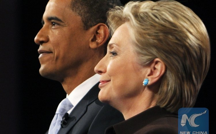 President Obama and Hillary Clinton in 2008