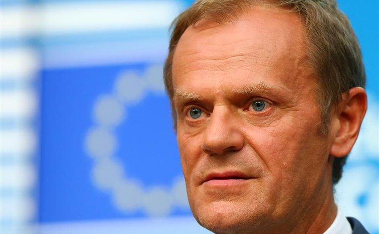 European Council President Donald Tusk attends a press conference at the EU headquarters in Brussels, Belgium, June 28, 2016.