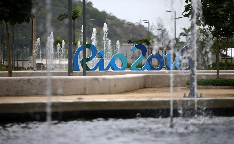 Photo taken on June 23, 2016 shows the Rio 2016 olympic village in Rio de Janeiro, Brazil. Rio 2016 unveils athletes' village to mark Olympic Day on Thursday. (Xinhua/Li Ming)