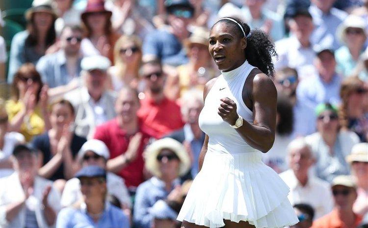 Serena Williams at Wimbledon on Saturday