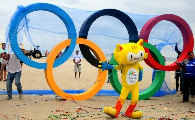 Artist impression of Olympic Rings in Rio