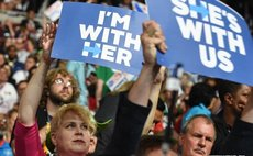 Supporters of Hillary Clinton cheer at the U.S. Democratic National Convention at Wells Fargo Center, Philadelphia, the United States on July 26, 2016.