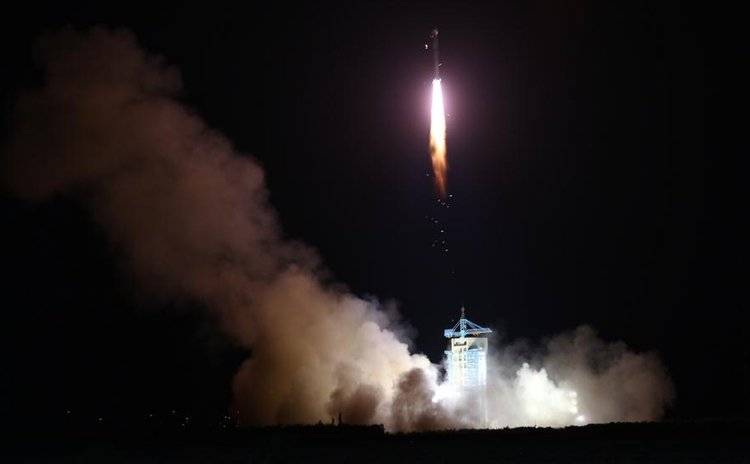 China launches the world's first quantum satellite on top of a Long March-2D rocket from the Jiuquan Satellite Launch Center in Jiuquan, northwest China's Gansu Province, Aug. 16, 2016.
