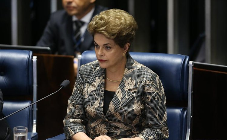 Suspended Brazilian President Dilma Rousseff attends a Senate impeachment trial in Brasilia, Brazil, on Aug. 29, 2016.
