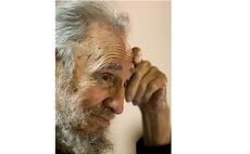 File photo taken on April 11, 2013 shows Fidel Castro attending the inauguration of a school in Havana