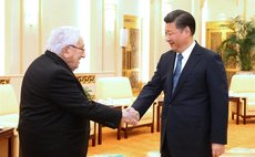 Chinese President Xi Jinping (R) meets with former U.S. Secretary of State Henry Kissinger in Beijing, capital of China, Dec. 2, 2016. (Xinhua/Ma Zhancheng)