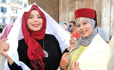 Women attend the celebration activities of the Tunisia Women's Day in Tunis, capital of Tunisia, Aug. 13, 2017. Women's Day is a public holiday in Tunisia, which is annually celebrated on Aug. 13. (Xi