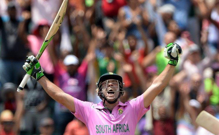 AB celebrates fastest ever ODI century