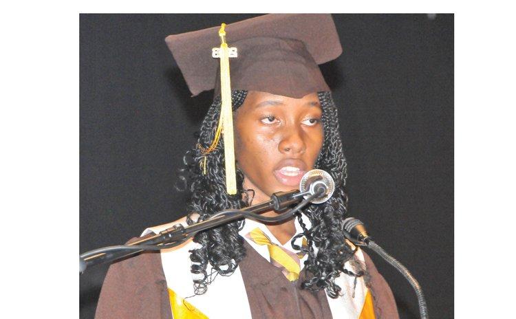 DGS Valedictorian Rhillah Benjamin
