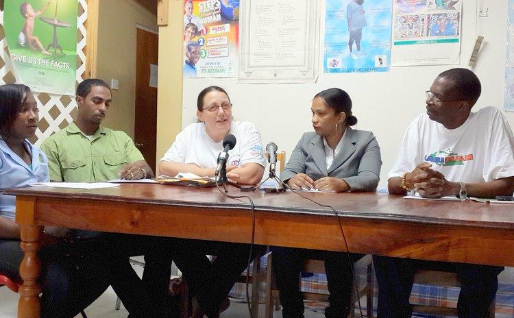 Representatives of NGOs at Friday's Press Conference