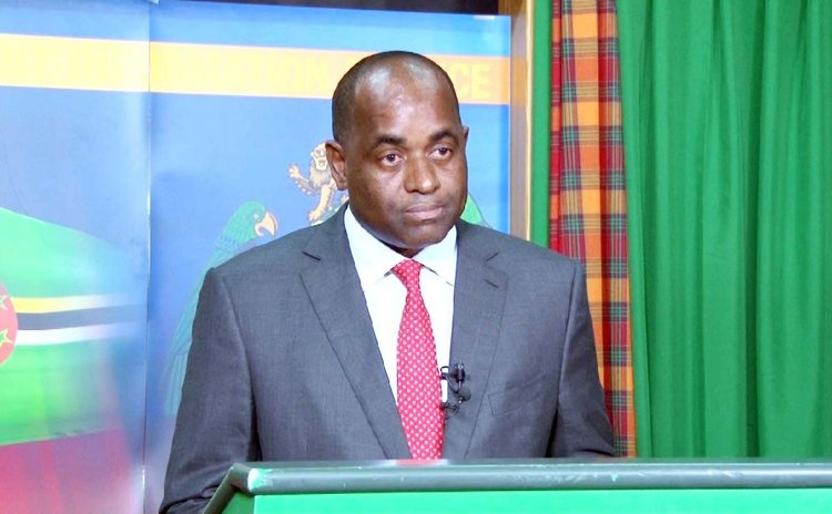 Prime Minister Roosevelt Skerrit announces election date (Government Information Service photo)