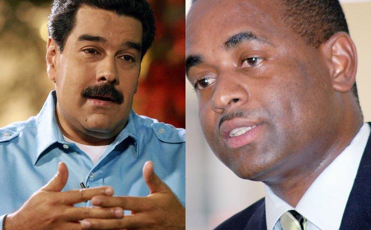 President Maduro, left, and Prime Minister Skerrit