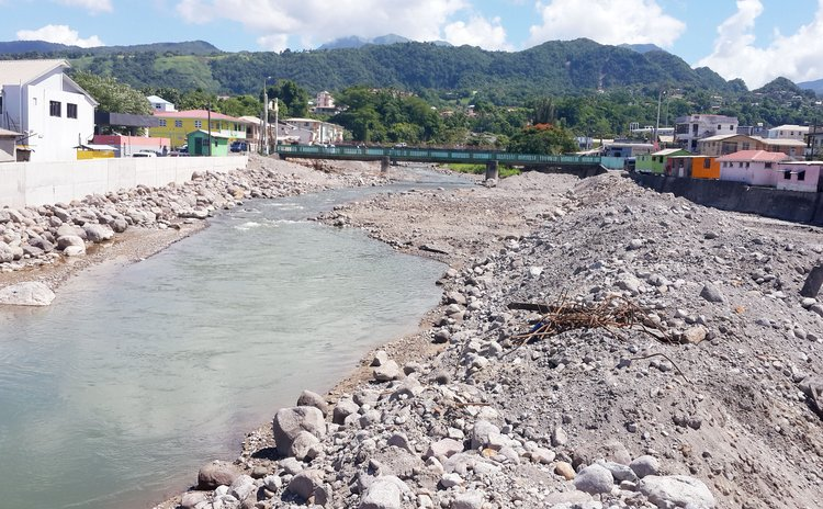 Roseau River after TS Erika