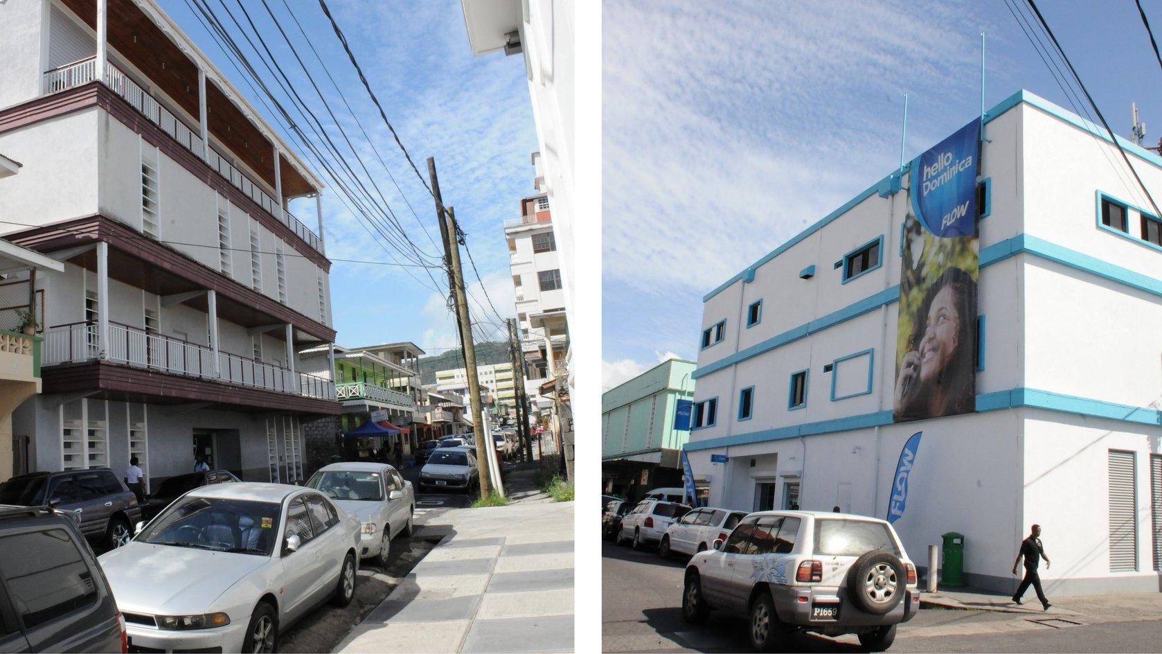 MARPIN, left and FLOW buildings
