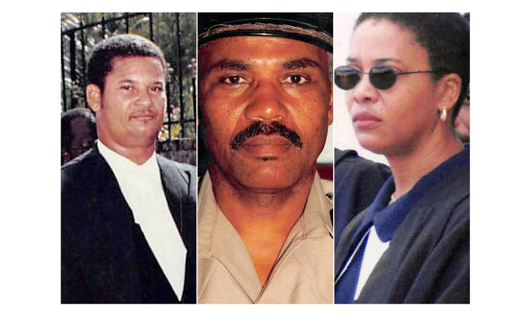 New magistrates (left to right): Riviere, Valerie and Royer