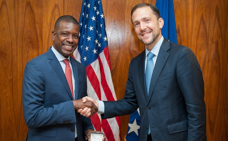 Vince Henderson and Ambassador Peter A. Selfridge, United States Department of State