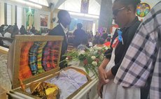 At the funeral service of Jacinta David at the St. Alphonsus Roman Catholic Church at Pottersville , Goodwill on 7 December 2017