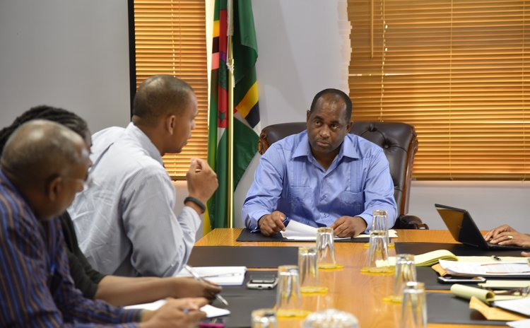 Prime Minister Skerrit meets CDB officials after Erika disaster
