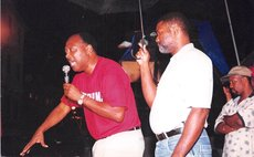 The late Roie Douglas and the late Pierre Charles