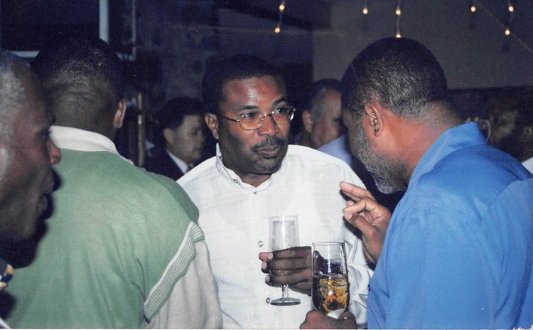 Julius Timothy and the late Pierre Charles at an official function during the UWP administration