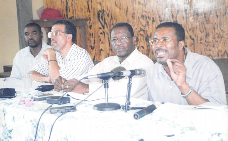 Timothy,extreme right, and other members of the UWP administration