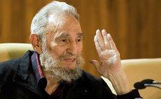 HAVANA, Aug. 14, 2013 (Xinhua) -- Image taken on Feb. 10, 2012 shows Cuban leader Fidel Castro speaking during a meeting in Havana, Cuba.