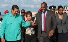 President Maduro and PM Skerrit share a laugh