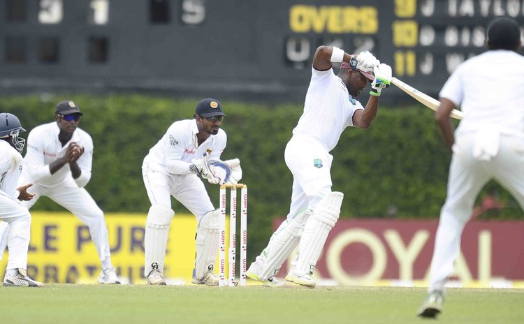 Bravo bats in second innings of second Test