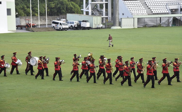 Government Band at the 2015 Independence Parade at the Windsor Park Sports Stadium