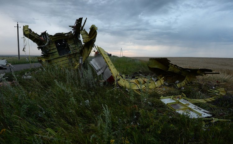 MOSCOW, July 18, 2014 (Xinhua) -- Photo taken on July 17, 2014 shows the debris at the crash site of a passenger plane near the village of Grabovo, Ukraine.