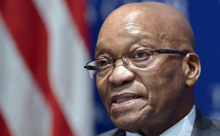 WASHINGTON D.C., Aug. 4, 2014 (Xinhua) -- South African President Jacob Zuma speaks at the National Press Club in Washington D.C., the United States, Aug. 4, 2014