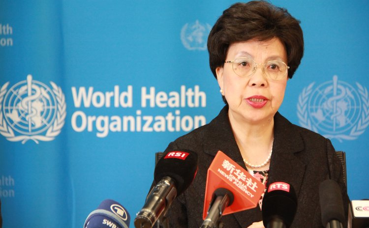 GENEVA, Aug. 8, 2014 (Xinhua) -- Margaret Chan, director-general of the World Health Organization (WHO), speaks during a press conference at the WHO headquarters in Geneva, Switzerland, Aug. 8, 2014.