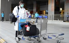 NEW DELHI, Aug. 27, 2014 (Xinhua) -- A passenger, who did not pass the preliminary screening for the Ebola virus, leaves the Delhi International Airport to Ram Manohar Lohia Hospital