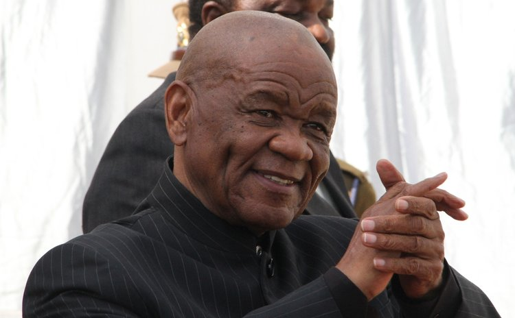 JOHANNESBURG, Aug. 30, 2014 (Xinhua) -- File photo. Aug. 16, 2014; Lesotho's Prime Minister Thomas Thabane at the 34th Southern African Development Community Heads of State Summit