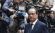 BRUSSELS, Aug. 30, 2014 (Xinhua) -- French President Francois Hollande at the European Council headquarters for the European Union (EU) special summit in Brussels, Belgium, August 30, 2014.