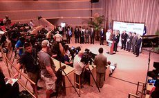 HOUSTON, Oct. 1, 2014 (Xinhua) -- A press conference is held at Texas Health Presbyterian Hospital in the northern Texas city of Dallas, the United States, Oct. 1, 2014.