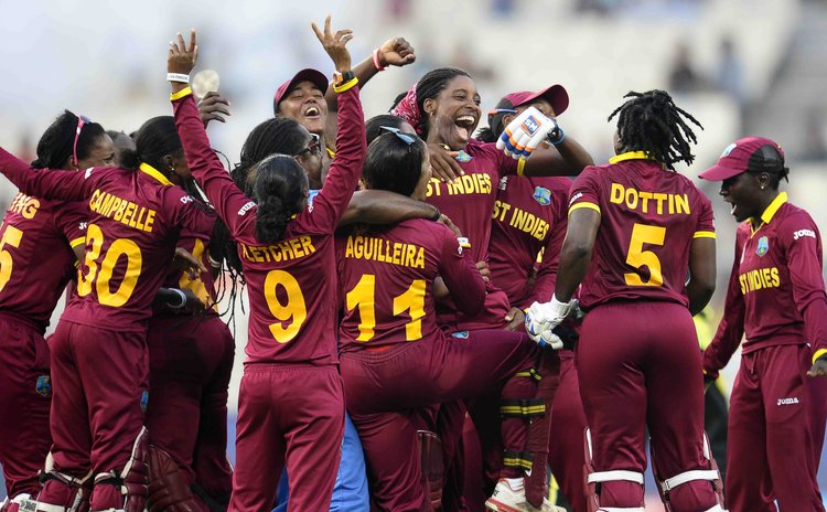 After defeating Australia, West Indies women team celebrate